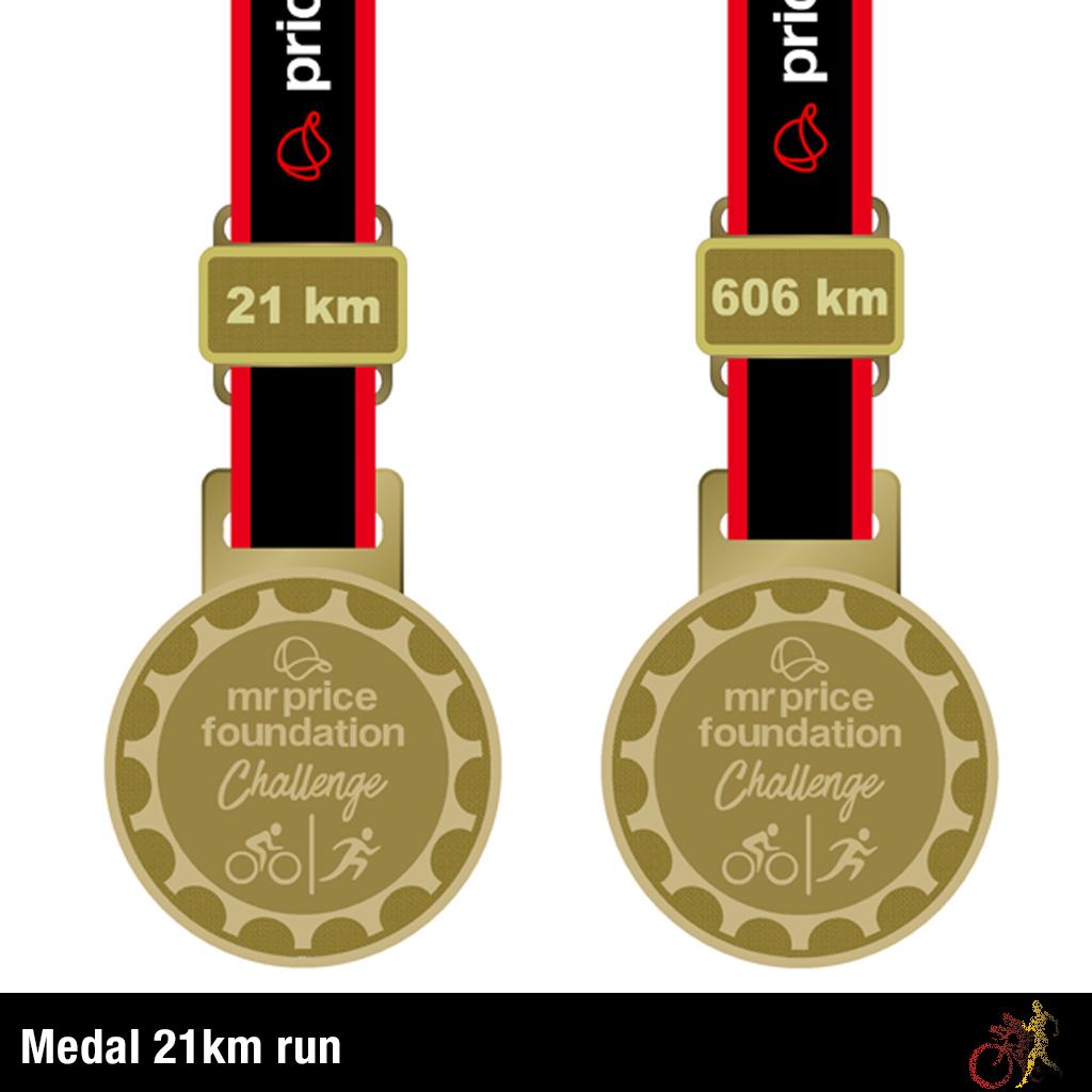 Mr Price Foundation Challenge Medal 21km Run