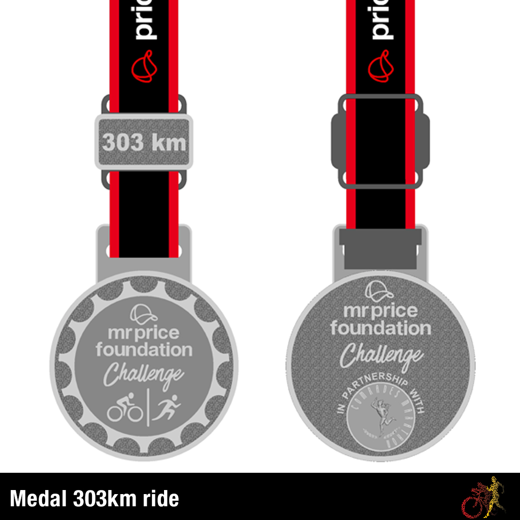 Mr Price Foundation Challenge Medal 303km Ride