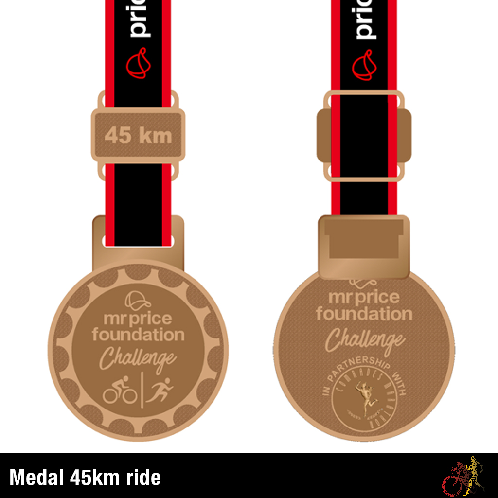Mr Price Foundation Challenge Medal 45km Ride
