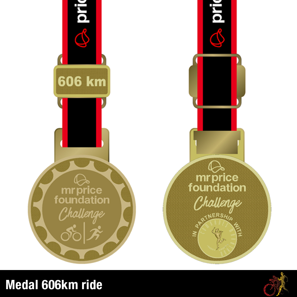 Mr Price Foundation Challenge Medal 606km Ride